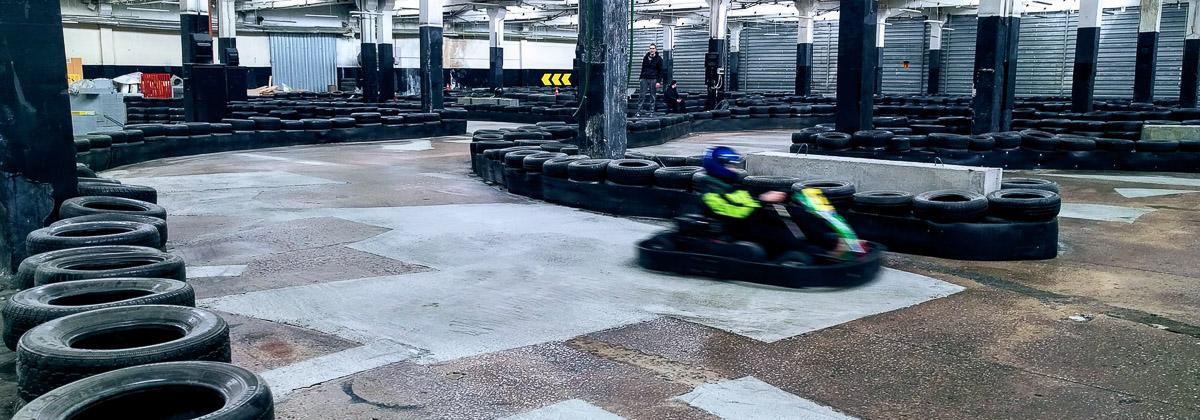 Circuit de Karting en pneus usagés